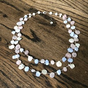 Jewelry - Pink, Purple, and Pearl Silver Necklace